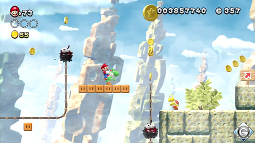 New Super Mario Bros U Schnappt Sie Euch Alle 1 Fuzzy Felsen