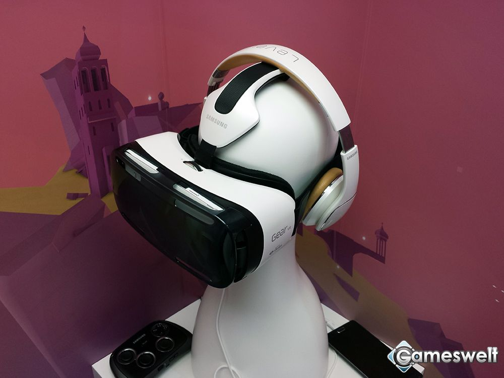 samsung gear vr unsere ifa bilder der vr brille artworks von gameswelt. Black Bedroom Furniture Sets. Home Design Ideas
