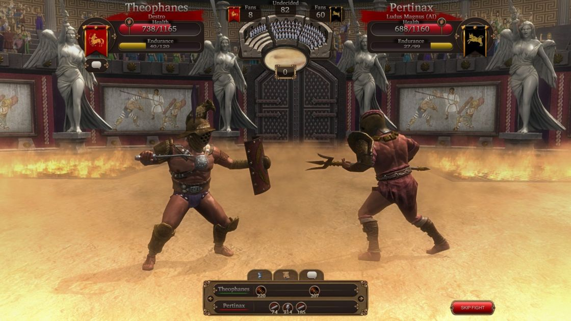 gladiators on line: death before dishonor gameplay definition