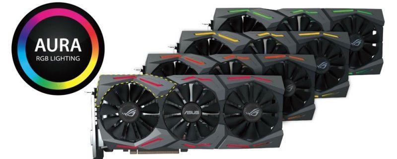 ASUS GTX 1070: RGB-beleuchtete übertaktete Grafikkarte