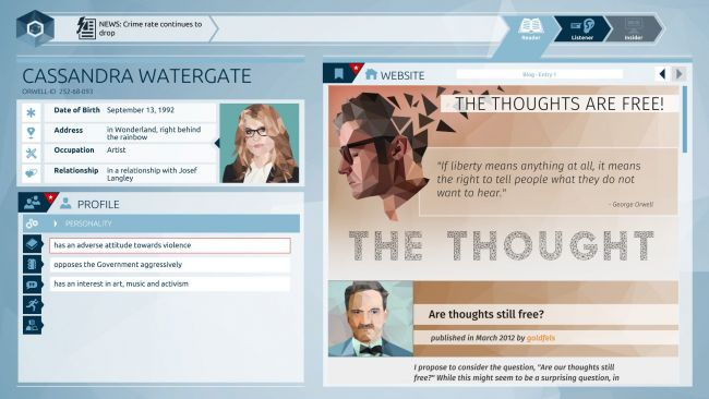 Orwell - Screenshots - Bild 4