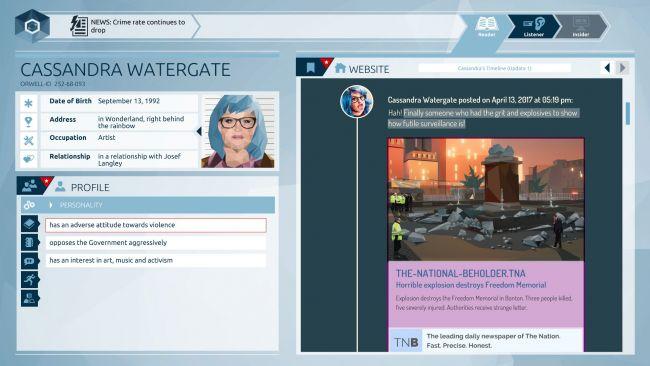Orwell - Screenshots - Bild 3
