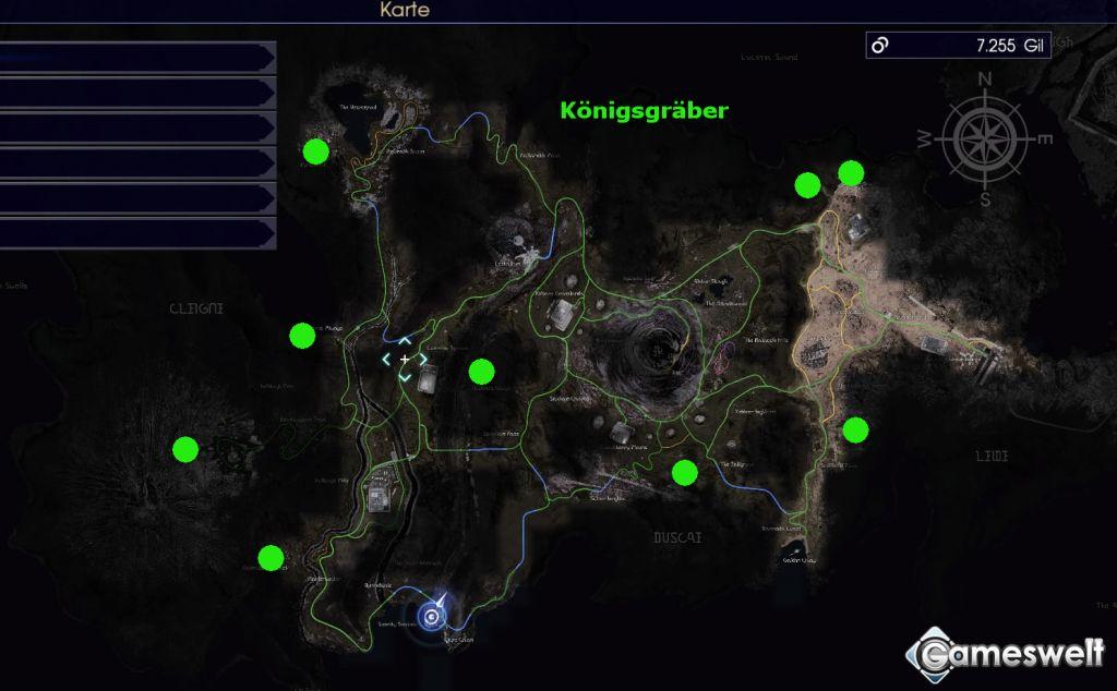 Final Fantasy 15 Königswaffen Karte.Final Fantasy Xv Komplettlösung Tipps Alle Hauptquests Bosse Und