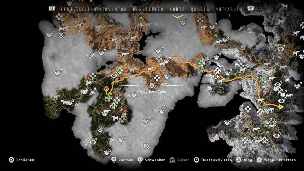 Horizon Zero Dawn Karte Energiezellen.Horizon Zero Dawn Tipps Xp Farmen Schnell Leveln