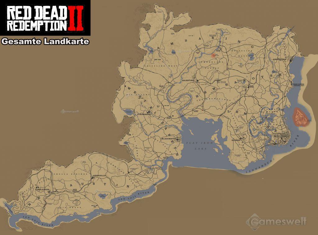 Red Dead Redemption 2 Legendare Tiere Karte.Red Dead Redemption 2 Komplettlosung Alle Hauptmissionen