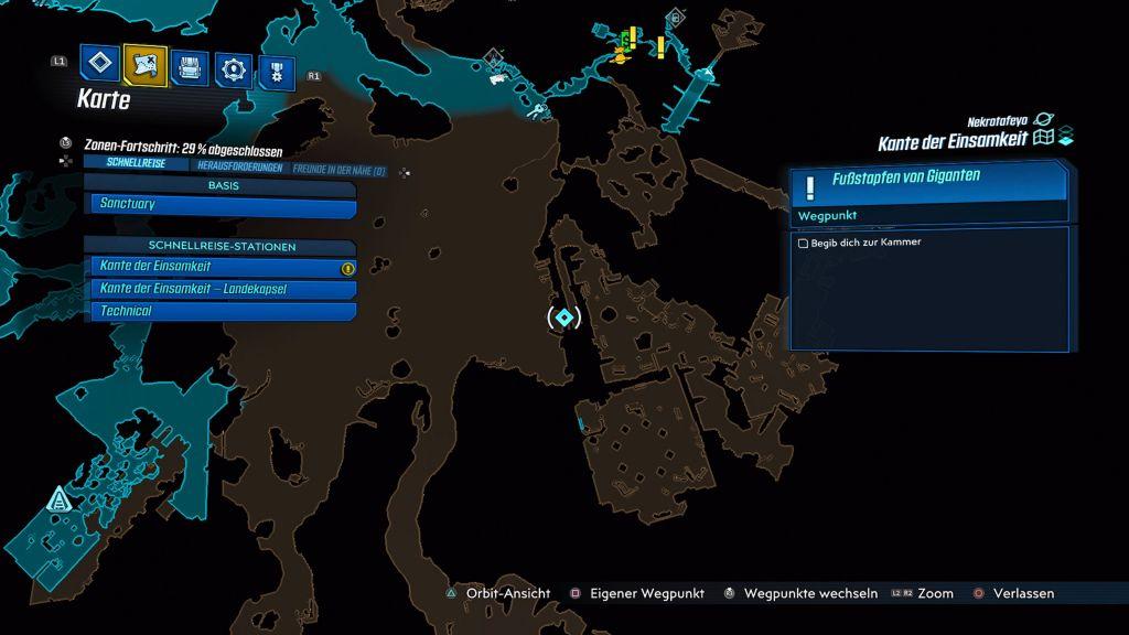 borderlands 3 kante der einsamkeit map
