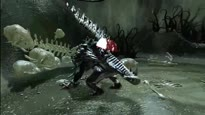 Star Wars: The Force Unleashed - Gameplay: Rancor Kampf