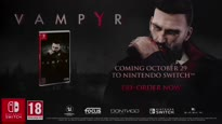 Vampyr - Switch Release Date Trailer